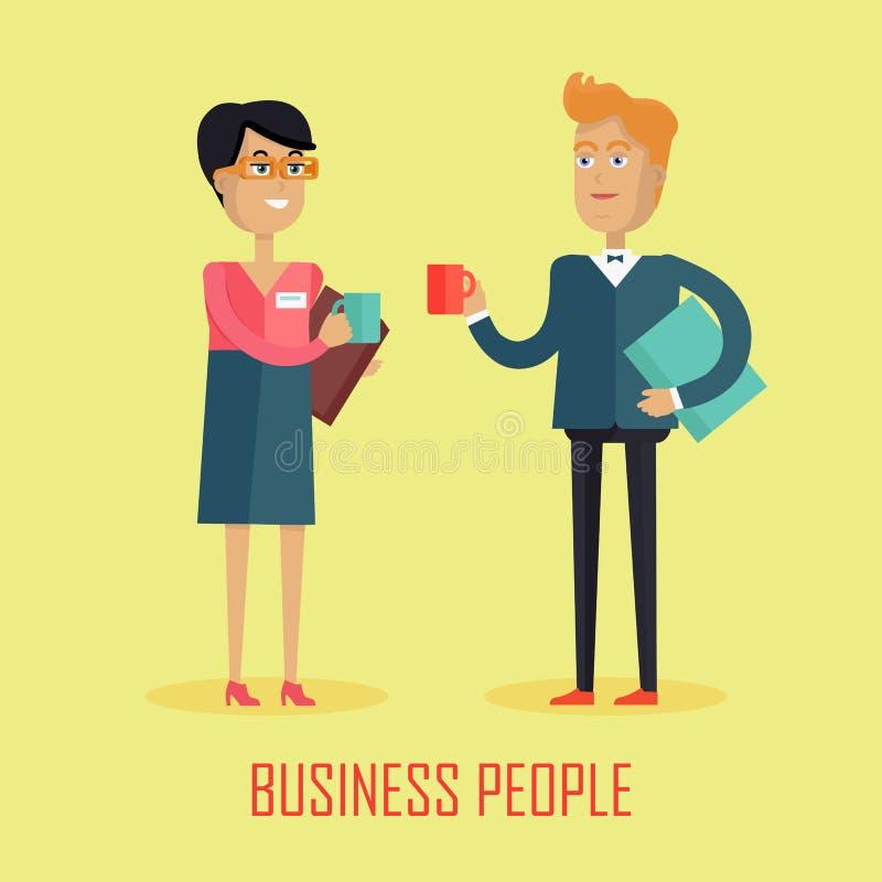 Gens d'affaires de pause-café illustration libre de droits