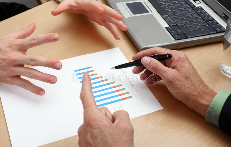 Gens d'affaires de planification photographie stock libre de droits