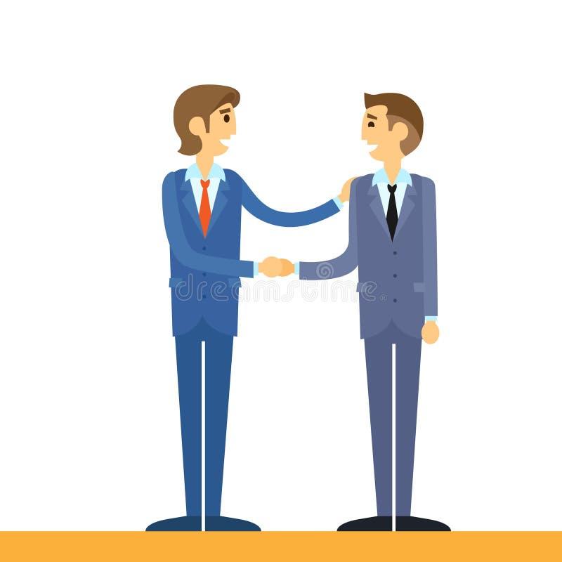 Gens d'affaires de poignée de main, secousse de main d'hommes d'affaires illustration de vecteur