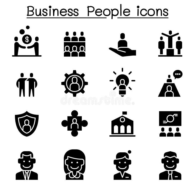 Gens d'affaires de positionnement de graphisme illustration stock