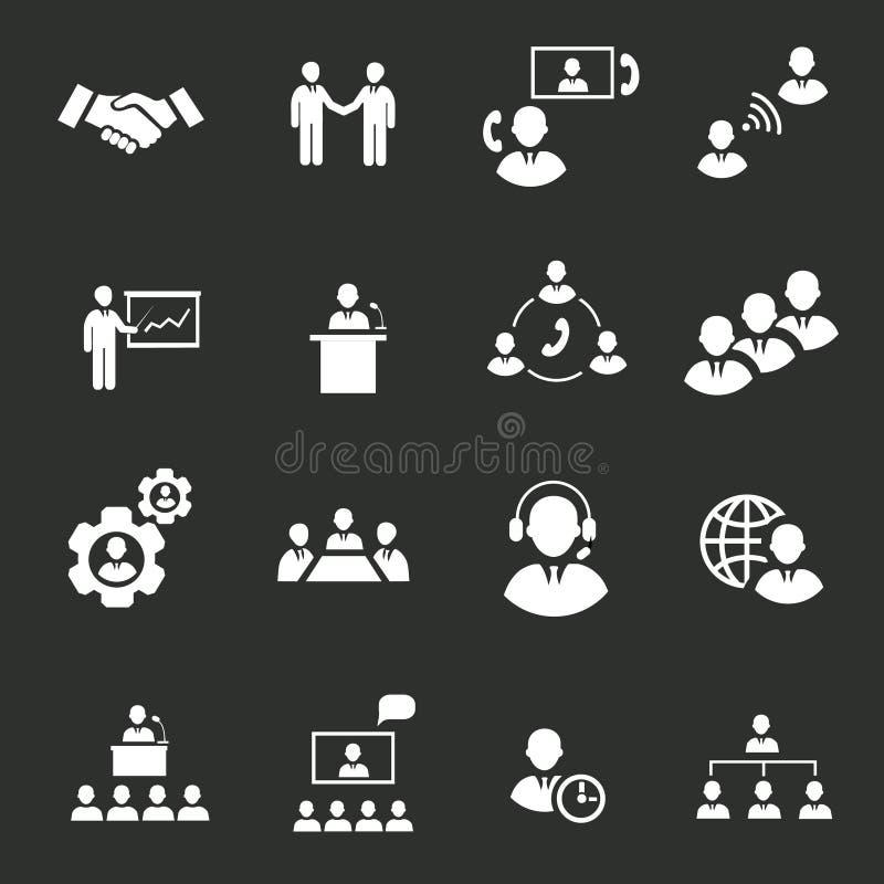 Gens d'affaires de réunion en ligne stratégique illustration libre de droits