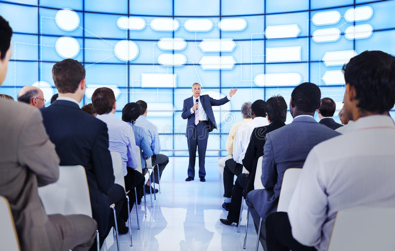 Gens d'affaires de séminaire de concept d'entreprise de conférence photo libre de droits