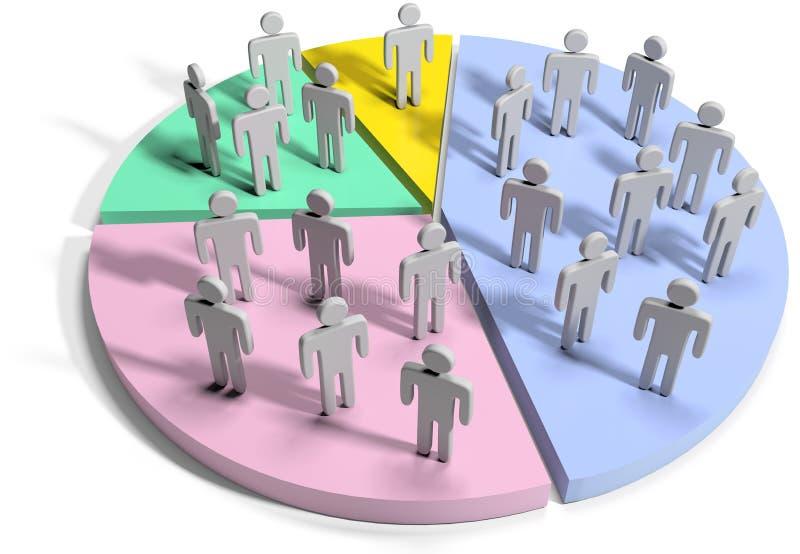 Gens d'affaires de statistiques de données financières illustration de vecteur