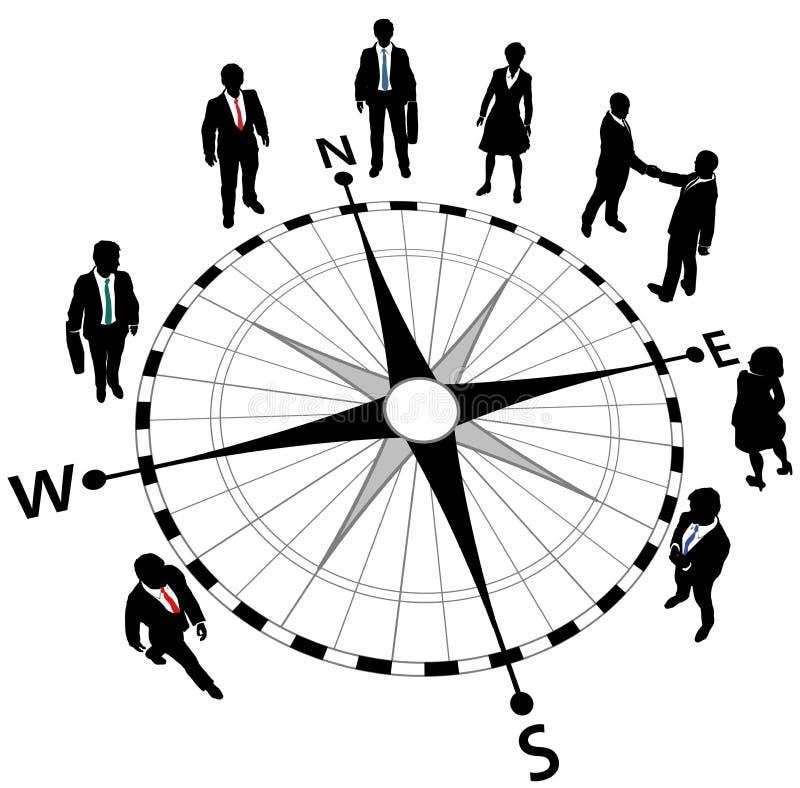Gens d'affaires de stratégie de sens de compas illustration stock