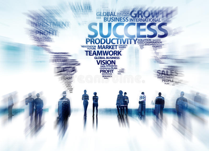 Gens d'affaires de succès d'aspiration de buts d'entreprise de concept de groupe photos libres de droits