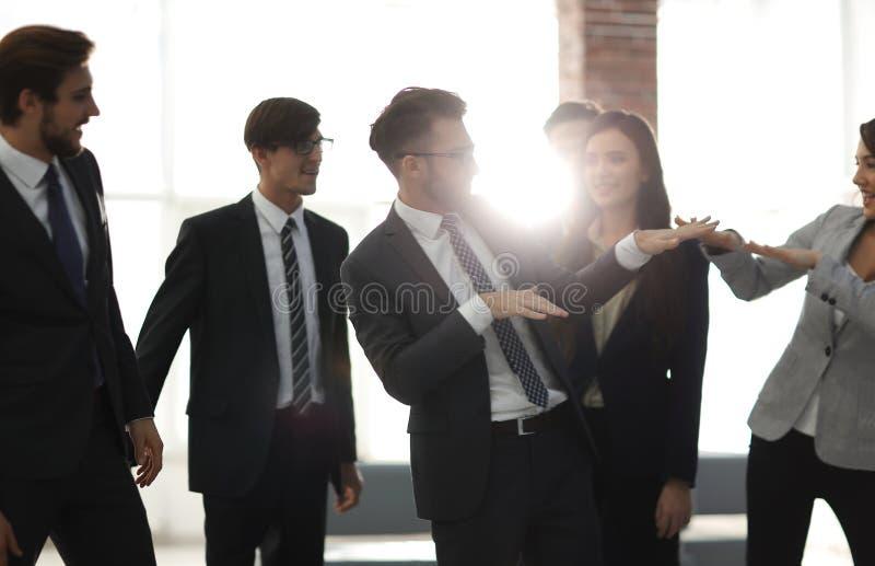 Gens d'affaires de Team Success Celebration Concept image stock