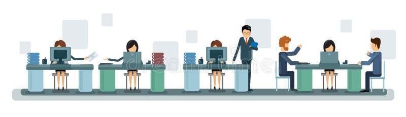 Gens d'affaires de Team Work Desktop Computer Banner illustration stock
