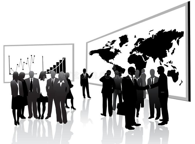Gens d'affaires et conférence illustration libre de droits
