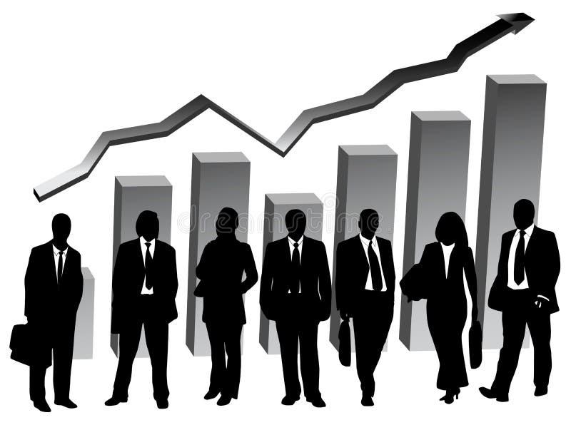 Gens d'affaires et graphique illustration stock