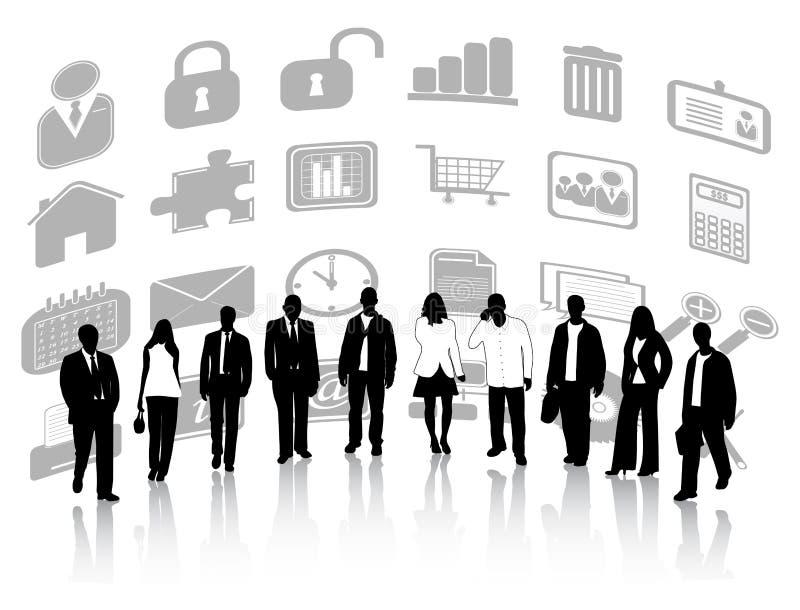 Gens d'affaires et graphismes illustration libre de droits