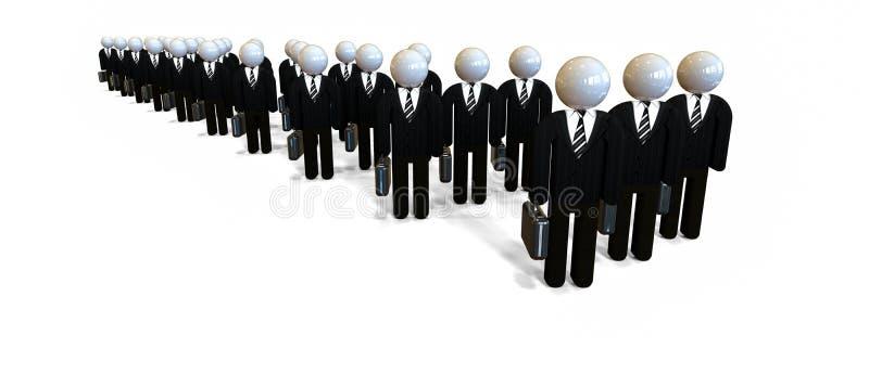Gens d'affaires Experts et conseillers illustration de vecteur