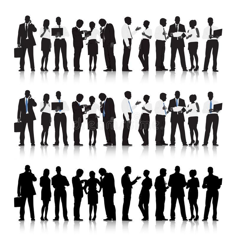 Gens d'affaires multi-ethniques de vecteur illustration libre de droits