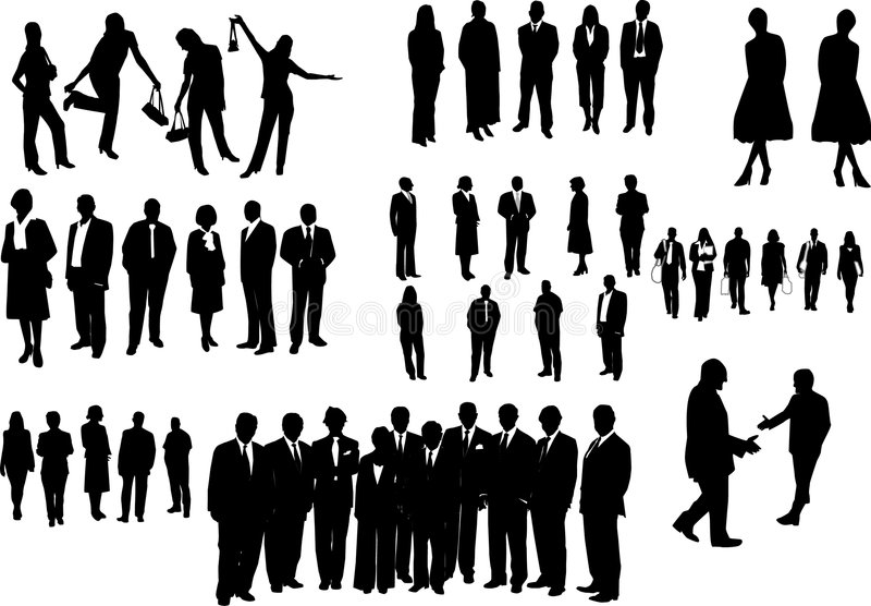 Gens d'affaires noir illustration libre de droits