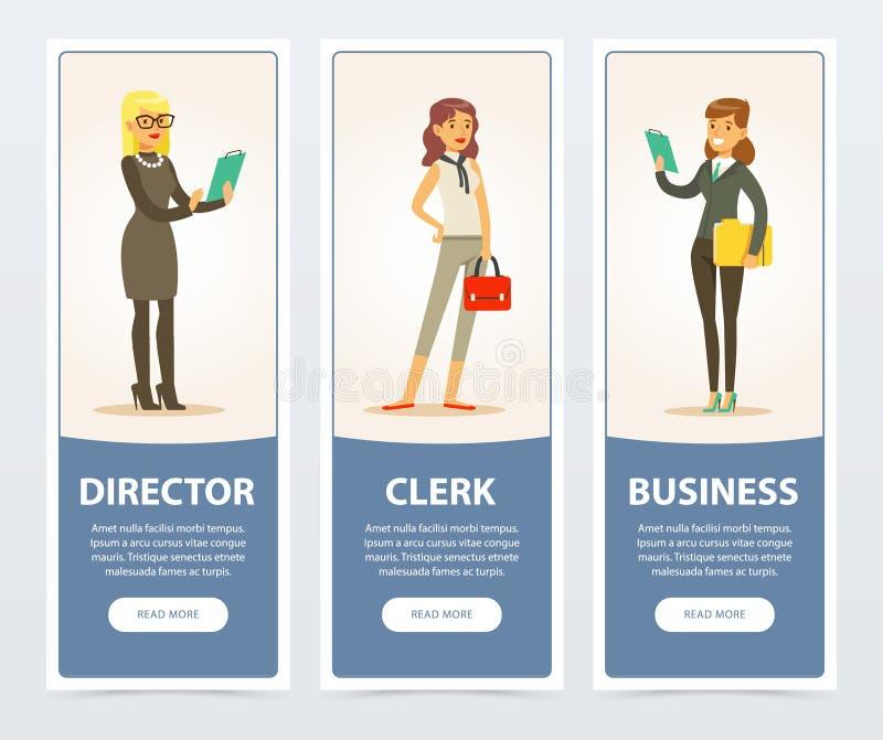 Gens d'affaires, personnel de société, bannières d'affaires pour la brochure de publicité, affiche promotionnelle de brochure, pr illustration libre de droits
