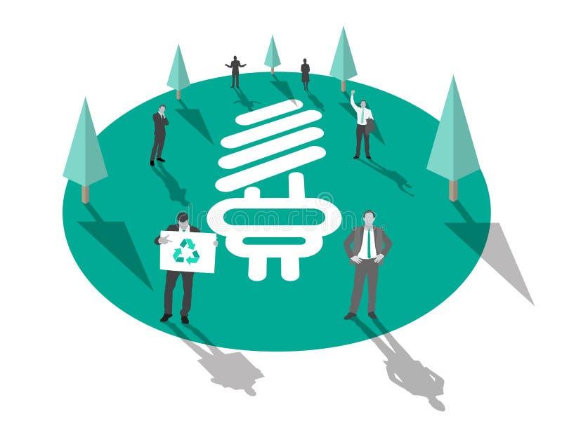 Gens d'affaires pour le vecteur environnemental de conservation illustration de vecteur