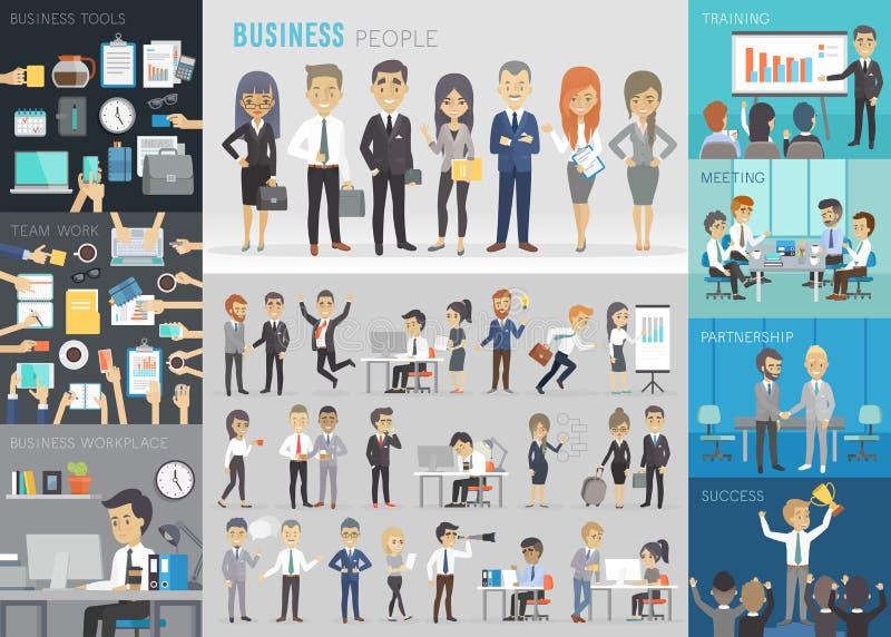 Gens d'affaires réglé illustration de vecteur