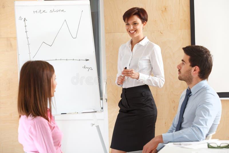 Gens d'affaires se réunissant dans le bureau pour discuter le projet photo stock