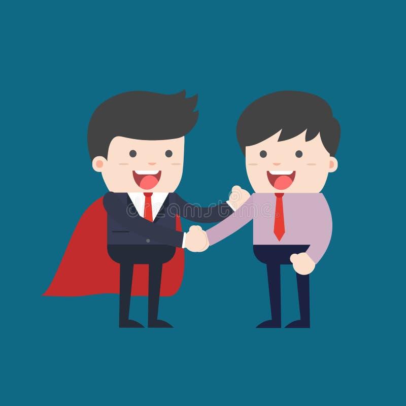 Gens d'affaires se serrant la main illustration de vecteur