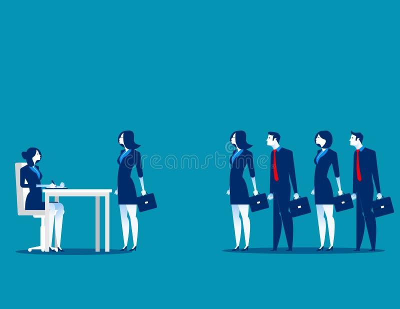 Gens d'affaires se tenant dans la file d'attente d'entrevue Affaires VE de concept illustration stock