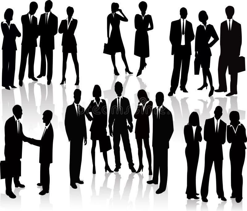 Gens d'affaires - silhouette de vecteur illustration de vecteur