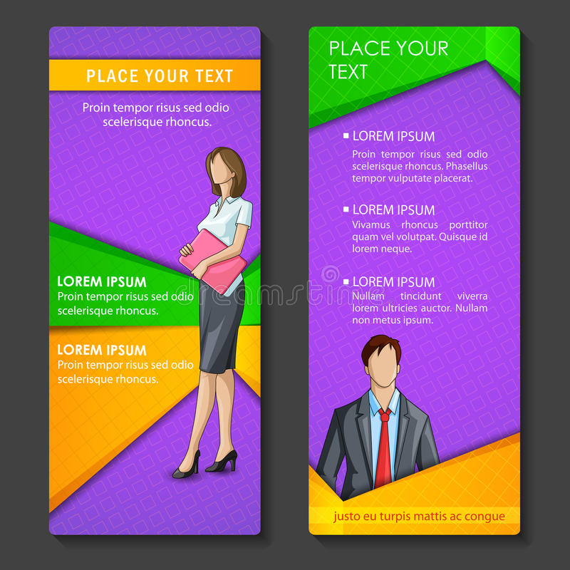 Gens d'affaires sur la conception de brochure illustration stock