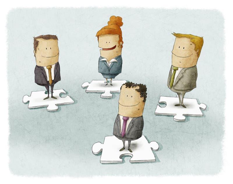 Gens d'affaires sur le puzzle illustration libre de droits