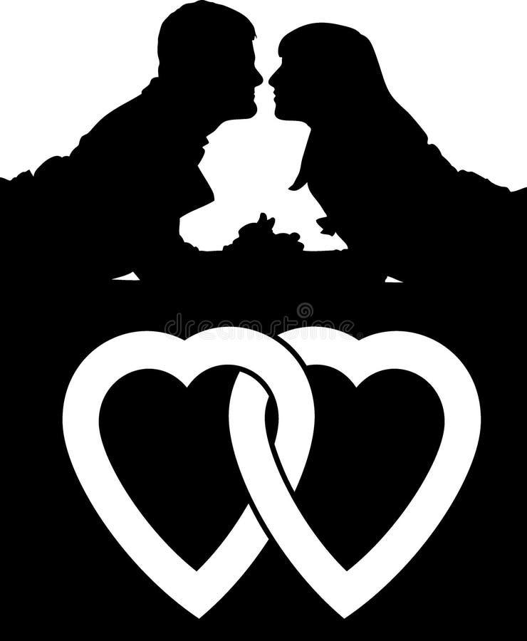 Gens d'amour de couples illustration stock