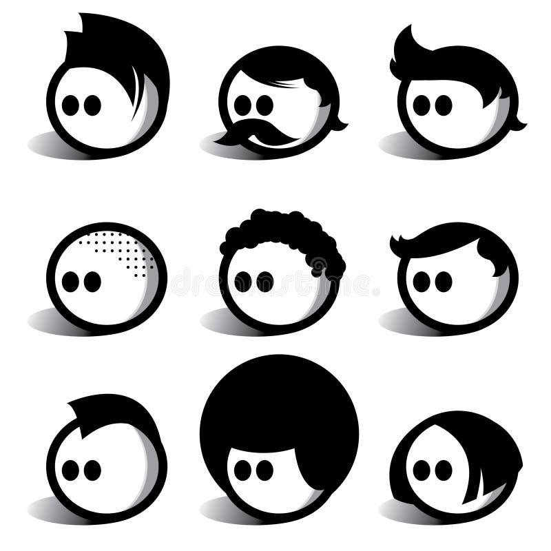 Gens d'Egghead illustration stock