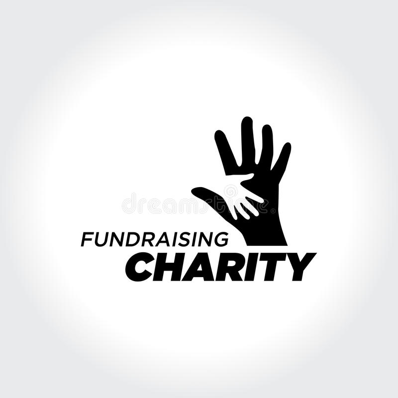 Gens de aide Concept d'illustration de charité et de collecte de fonds illustration de vecteur