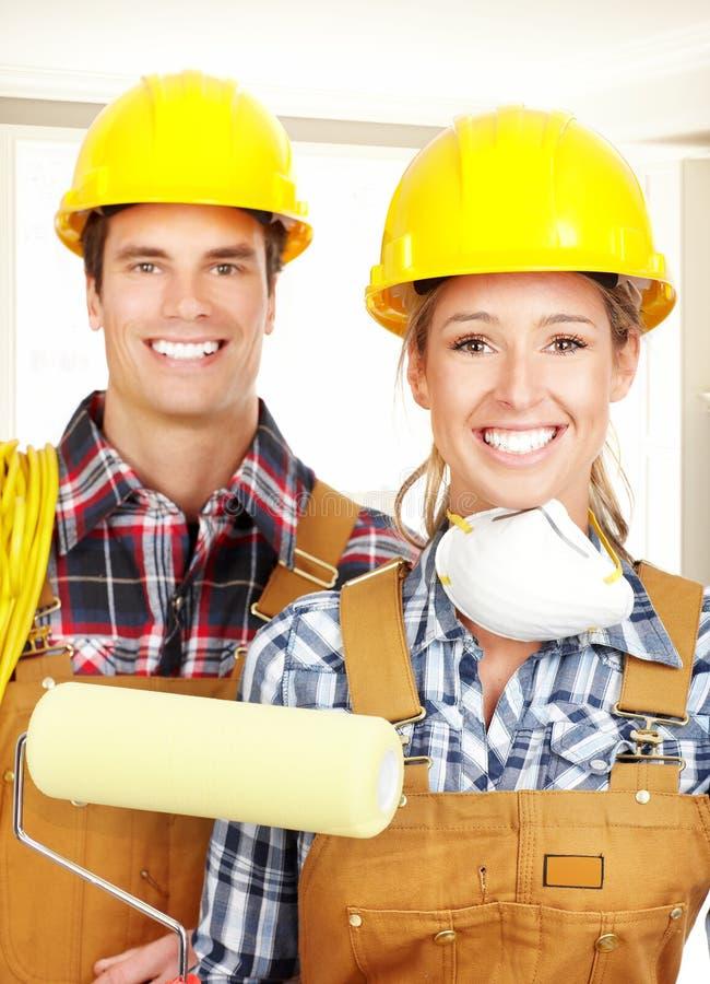 Gens de constructeur image stock