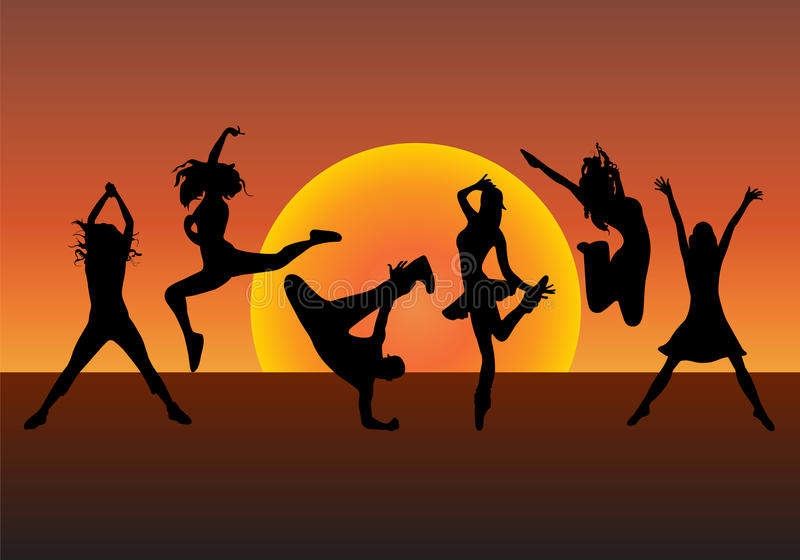 Gens de danse illustration libre de droits