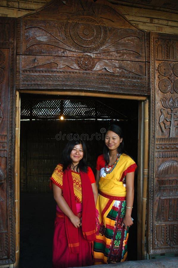 gens de nagaland de cordon de l'Inde image libre de droits