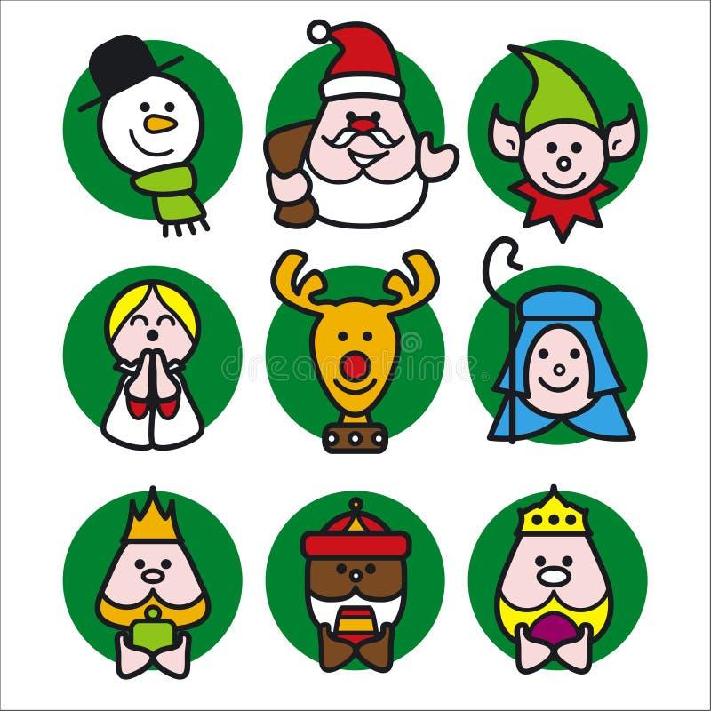 Gens de Noël illustration libre de droits