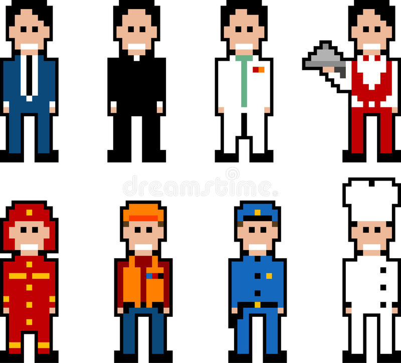 Gens de Pixel - métier illustration libre de droits