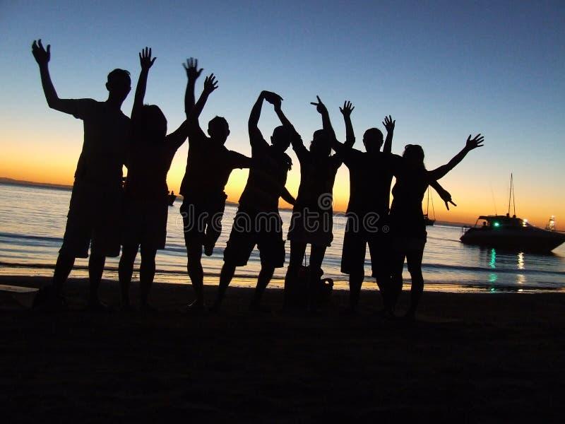 Gens de réception de plage image stock