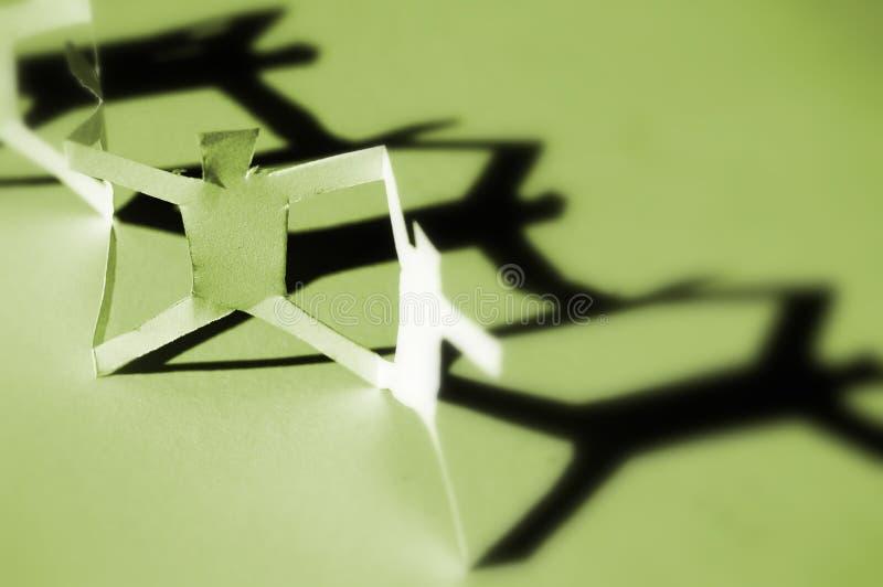 Gens de réseau de Livre vert photographie stock