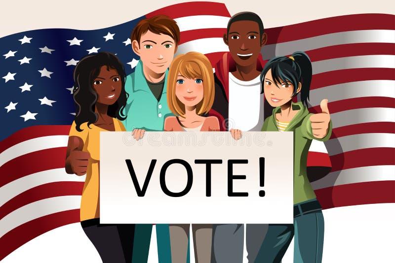 Gens de vote illustration libre de droits