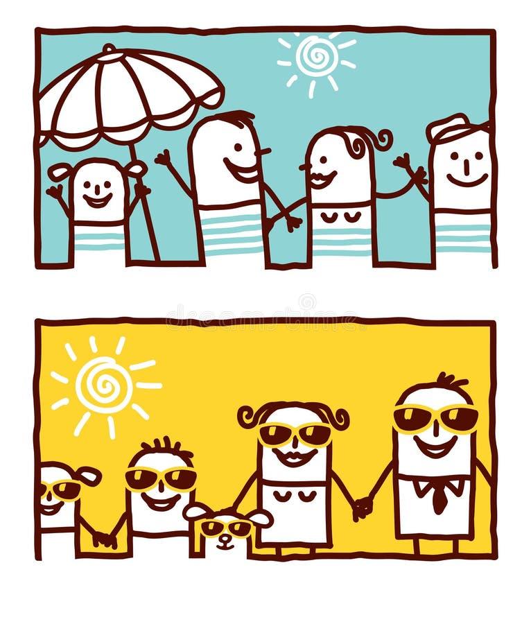 Gens et famille d'été illustration de vecteur