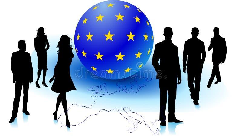 Gens européens illustration libre de droits
