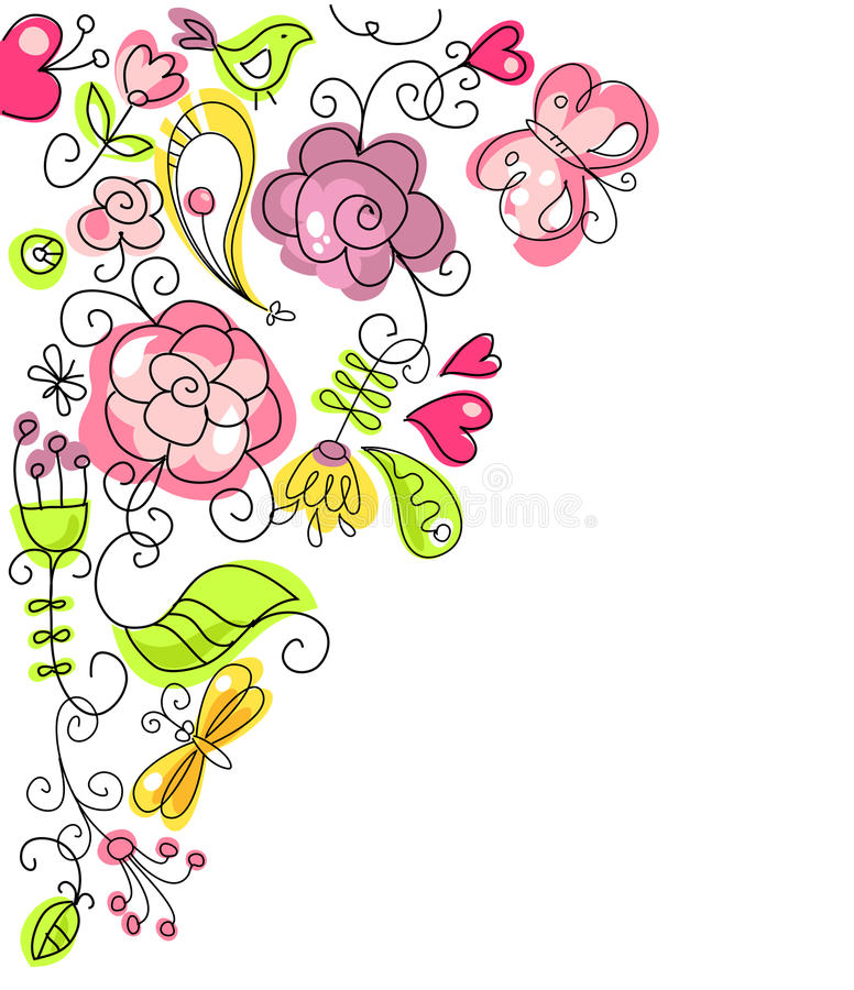 Gens floraux illustration stock