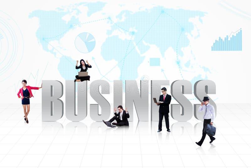Gens globaux d'affaires illustration libre de droits