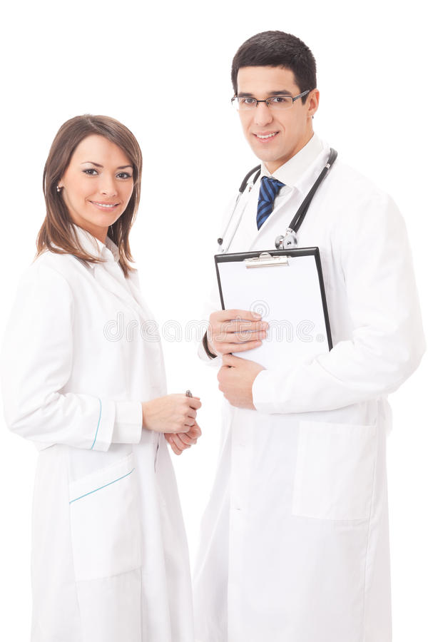 gens médicaux d'isolement deux photographie stock