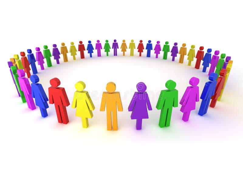 gens multi d'illustration colorée illustration de vecteur
