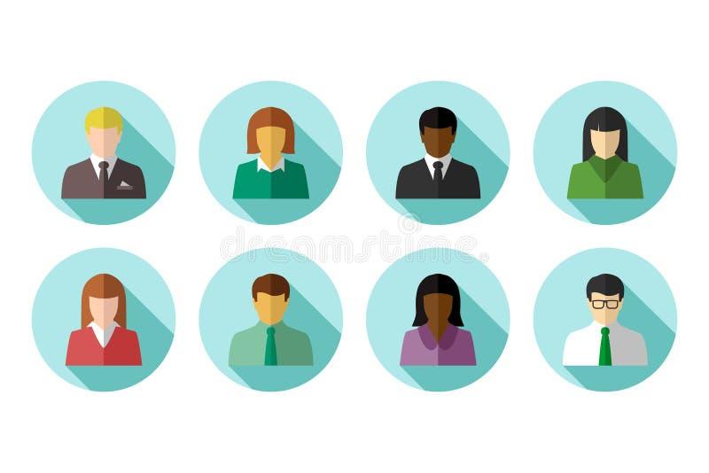 gens multiraciaux d'affaires illustration libre de droits