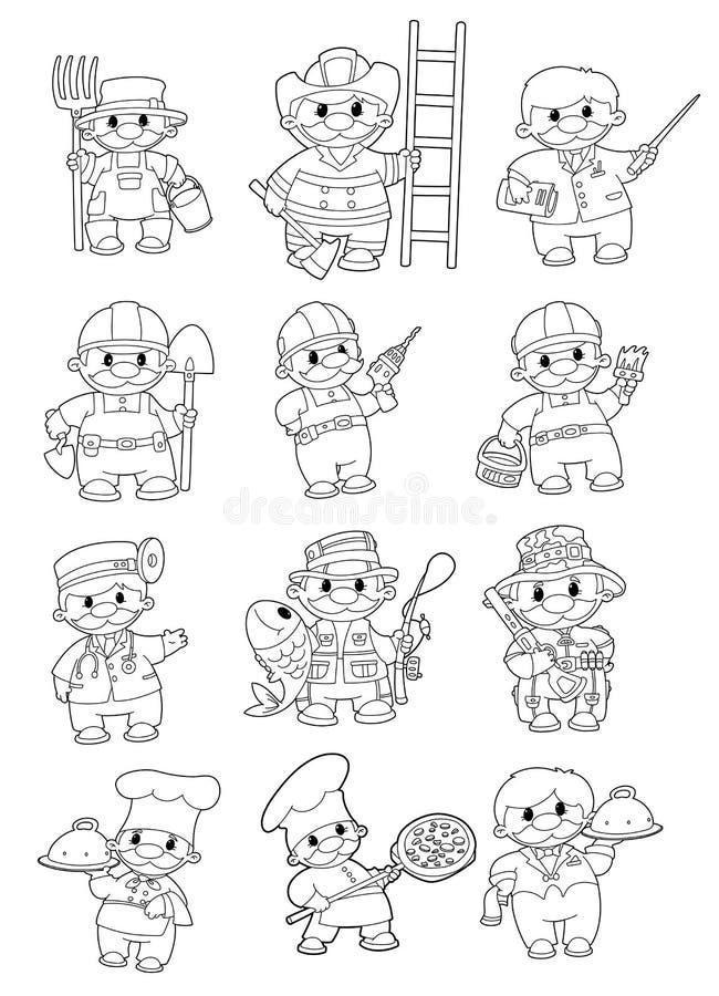 Gens professionnels illustration stock