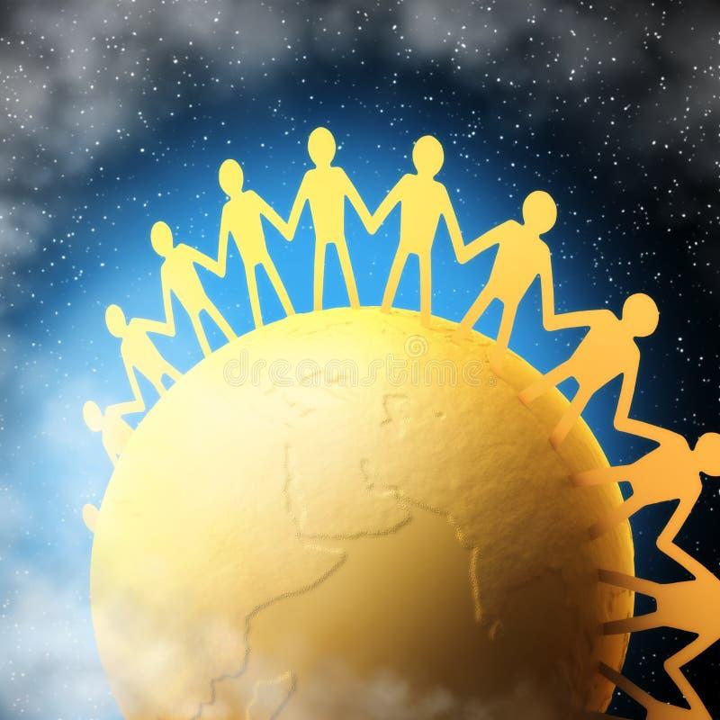 Gens unis illustration libre de droits