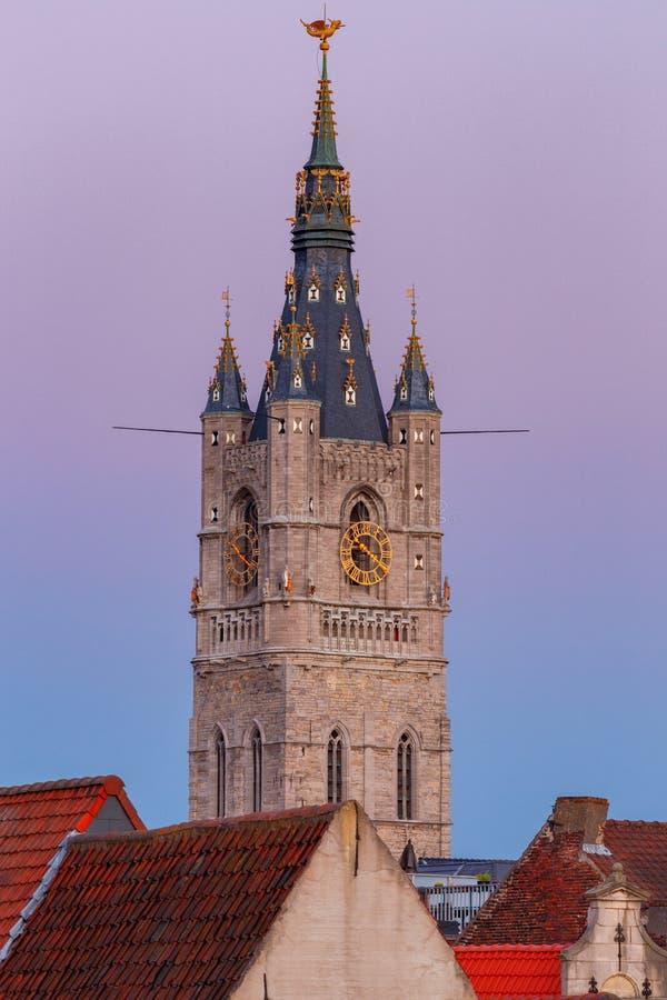 gent Πύργος Μπέλφορτ στοκ εικόνες