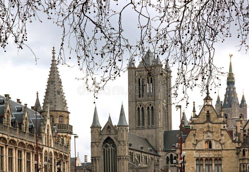 gent Бельгии Фландрии стоковые изображения rf