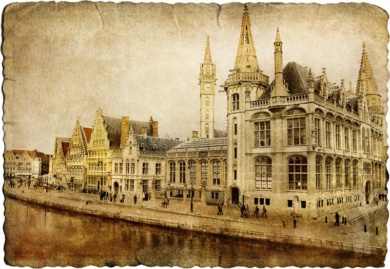 Gent - Бельгия стоковые фотографии rf