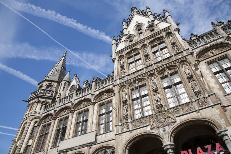 Gent - дворец столба стоковое изображение rf